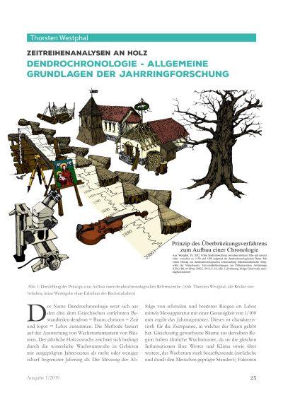 Artikelvorschau: Zeitreihenanalysen an Holz - Dendrochronologie - Allgemeine Grundlagen der Jahrringforschung