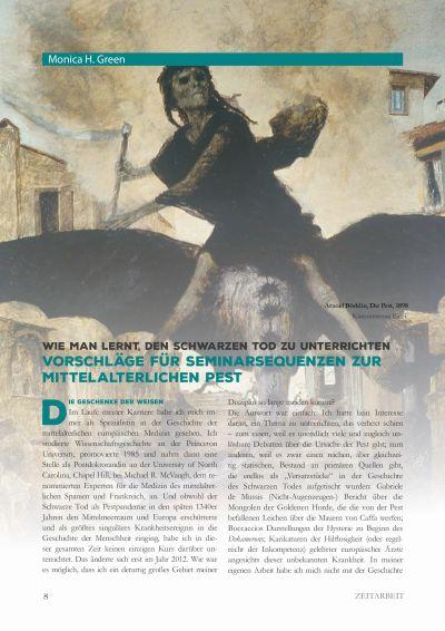 Artikelvorschau: Wie man lernt, den Schwarzen Tod zu unterrichten - Vorschläge für Seminarsequenzen zur mittelalterlichen Pest